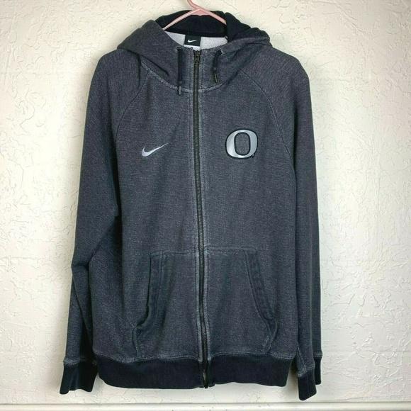 Nike Other - Nike Oregon Ducks Hoodie Mens XL Gray Full Zip